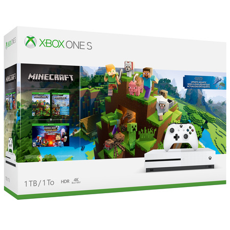 Microsoft Xbox One S 1TB Minecraft Bundle, White,