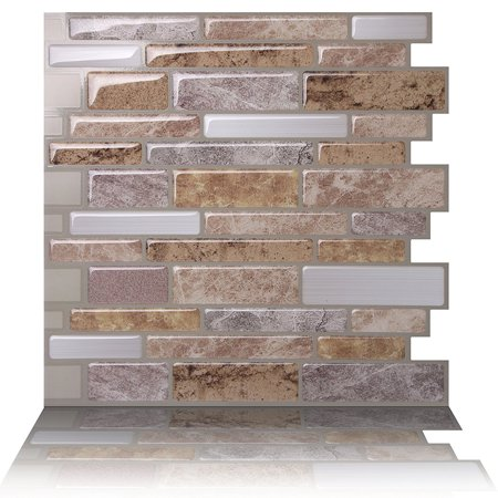 Tic Tac Tiles - Premium Anti Mold Peel and Stick Wall Tile Backsplash in Polito (Travertine Wall Tiles)