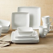 Better Homes & Gardens Loden 16-Piece Porcelain Coupe Square Dinnerware Set