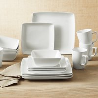 Better Homes & Gardens Loden 16-Piece Porcelain Coupe Square Dinnerware Set