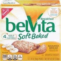 (6 Pack) Belvita Soft Baked Banana Bread Breakfast Biscuits, 8.8 Oz