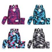 4d98a8171462 2 Pcs Set Women Backpacks Nylon Design Backpack Schoolbag for Teenagers  Girls Purple