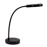 Mainstays 3.5 Watt Dimmable LED Desk Lamp with USB Port, Black