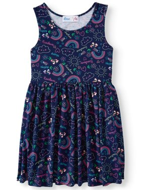 Jersey Fit and Flare Dress (Little Girls & Big Girls)