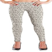 MyLeggings Buttersoft High Waistband Leggings Dotted Pattern - Small