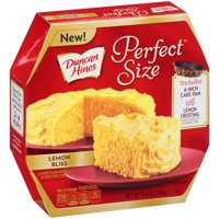 (2 Pack) Duncan Hines Perfect Size¢ Lemon Bliss Cake Mix & Frosting Mix 9.4 oz Box
