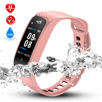 Hommie Color Screen Fitness Tracker,Waterproof Sport Smart Watch Band Bracelet with Heart Rate Pedometer for IOS Android