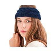 Zodaca Women Headband Crochet Knit Knitted Girl Lady Fashion Head Warmer  Winter Warmth Headband Headwrap Hairband c9a94fdadba