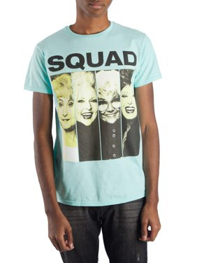 Golden Girls Men's Squad Picture Short Sleeve Graphic T-Shirt, up to Size 3XL