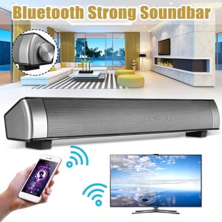 Powerful 360° Bluetooth 3.0 TV Home Theater Soundbar Sound Bar 3D Surround Stereo Wireless Audio Speaker Music Player Subwoofer For TPC Laptop Tablet Smartphone Upgraded TF