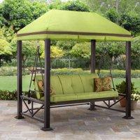 Better Homes & Gardens Sullivan Pointe Gazebo Porch Swing Bed, Seats 3
