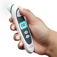 Dual Scan Prime Ear and Forehead Digital Thermometer with Memory recording and Food Bottle readings
