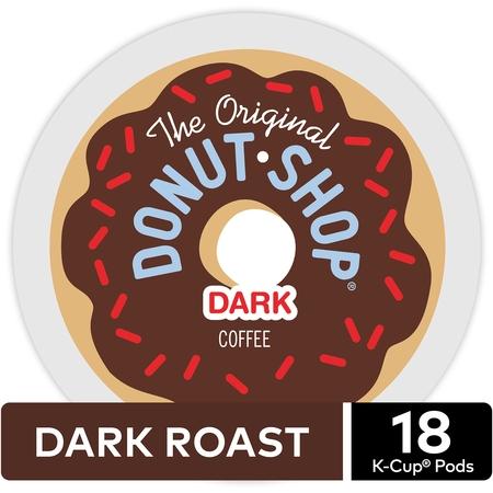 The Original Donut Shop Dark Coffee, Keurig K-Cup Pod, Dark Roast, 18