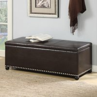 Convenience Concepts Designs4Comfort No Tools Parker Ottoman with Shoe Storage, Espresso