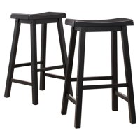 "Ashby Bar Stools 29"", Set of 2, Black Rubbed"