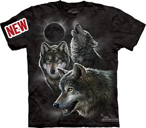Eclipse Wolves Adult T-Shirt by - 10-3398