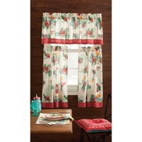 The Pioneer Woman Country Garden 3pc Kichen Curtain And Valance Set
