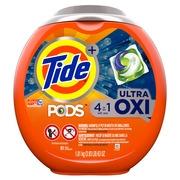 Tide PODS Ultra Oxi Liquid Laundry Detergent Pacs, 61 count