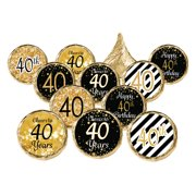 40th Birthday Party Favor Stickers 324ct