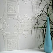Brewster Early Victorian Paintable Textured Vinyl Wallpaper