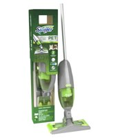 Swiffer Sweep + VAC Pet Cordless Vacuum Kit (1 Rechargeable Vacuum Sweeper, 8 Dry Cloths, 1 Replaceable Filter, 1 Battery Charger)