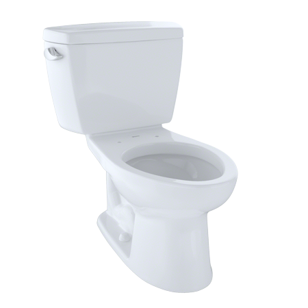 TOTO? Drake? Two-Piece Elongated 1.6 GPF Toilet, Cotton White -