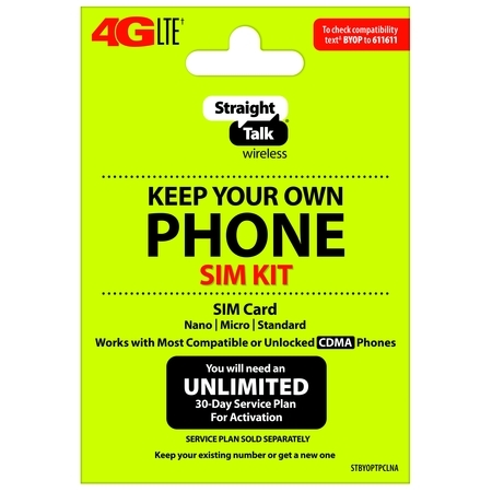Straight Talk Keep Your Own Phone Activation Kit (4G LTE) - Verizon