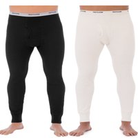 Fruit of the Loom Men's Classic Bottoms Thermal Underwear for Men, Value 2 Pack (2 pants)