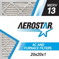 20x20x1 AC and Furnace Air Filter by Aerostar - MERV 13, Box of 6
