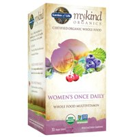 Garden of Life Mykind Organics Women's Once Daily Multivitamin Vegan Tablets, 30 Ct