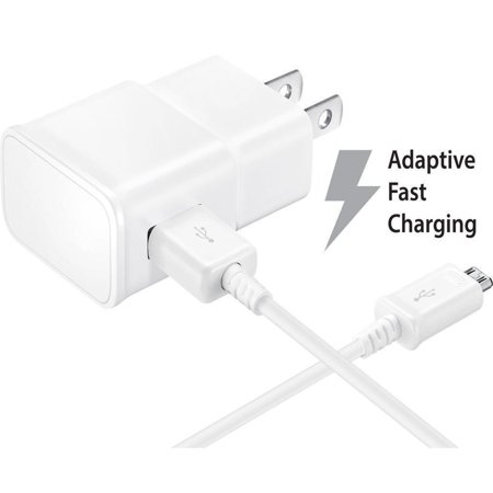 Max Wall Mobile - OEM Quick Fast Charger For ZTE Grand X Max Cell Phones [Wall Charger + 5 FT Micro USB Cable] - AFC uses dual voltages for up to 50% faster charging! - Bulk Packaging - White