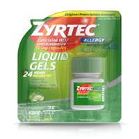 Zyrtec 24 Hour Allergy Relief Antihistamine Capsules, 25 ct