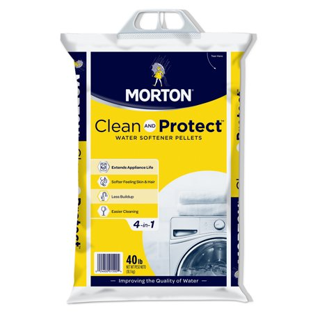Morton® Clean and Protect® Water Softener Salt Pellets, 40 lb. Bag ()