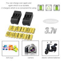 New Rechargeable Battery 20pcs 2500mAh-GTF Rechargeable Batteries 16340 3.7V Set With 2 Chargers For Netgear Arlo Security Camera, Yellow