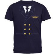 06b2cb11 Halloween Airline Airplane Pilot Navy Adult T-Shirt