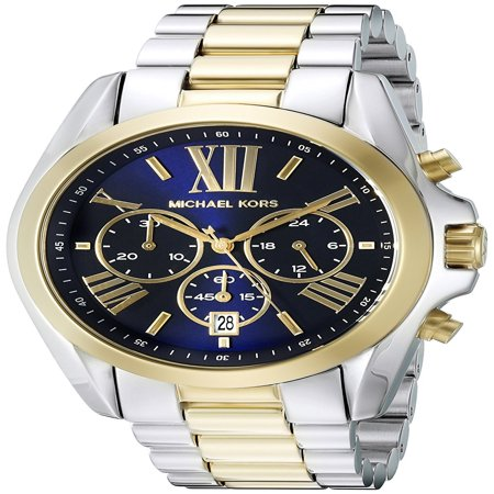 Michael Kors Men's Bradshaw Two-Tone Chronograph Watch (Anodized Chronograph)