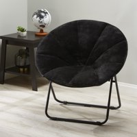 Mainstays Folding Plush Saucer Chair, Multiple Colors