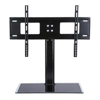 Yosoo Table Top TV Stand Base, Universal Replacement Tabletop Pedestal Base Stand with Wall Mount Bracket for TV LCD/LED, Plasma Screens 37 up to 55 Inch
