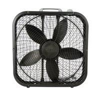 """Lasko Cool Colors 20"""" Box 3-Speed Fan, Model #B20301, Black"""