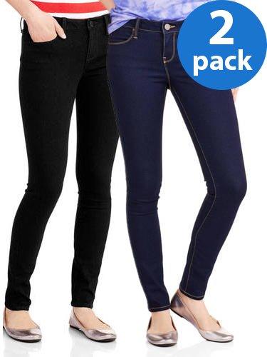 Juniors' Classic Skinny Jeans 2pk Bundle ()