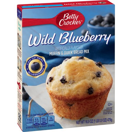 (4 Pack) Betty Crocker Wild Blueberry Muffin and Quick Bread Mix, 16.9 -