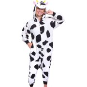 SILVER LILLY Unisex Adult Plush Animal Cosplay Costume Pajamas (Cow) 86018b645
