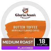 Gloria Jean's Coffee Butter Toffee, Flavored Keurig K-Cup Pod, Medium Roast, 18 Ct