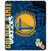 """NBA Golden State Warriors 50"""" x 60"""" Fleece Throw"""
