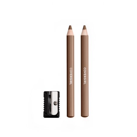 Soft Black Brow Liner - COVERGIRL Easy Breezy Fill + Define Eyebrow Pencil, Honey Brown