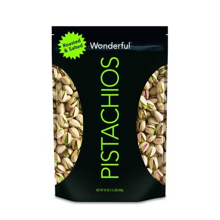 Wonderful Pistachios Roasted & Salted Pistachios, 24