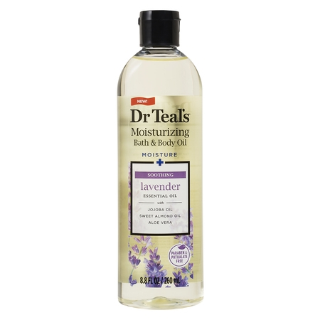 Dr Teal's Soothe & Sleep with Lavender Body and Bath Oil, 8.8 fl oz