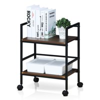 Furinno Modern Storage Cart with Casters, Multiple Colors