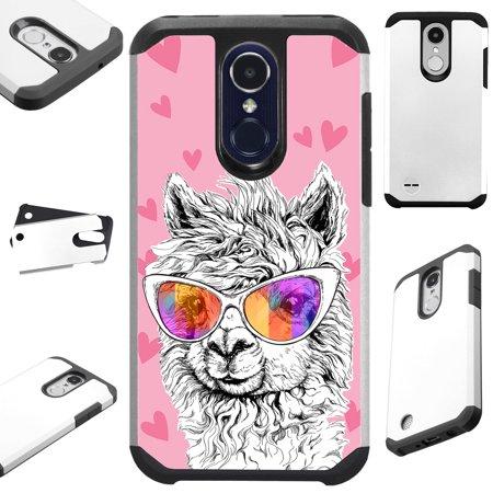 FusionGuard Phone Case Cover For LG Stylo 4 | Stylo 4 Plus | Q Stylus Q Plus Q Alpha (Llama Love)