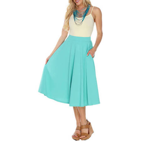 - Women's Flared Midi Skirt